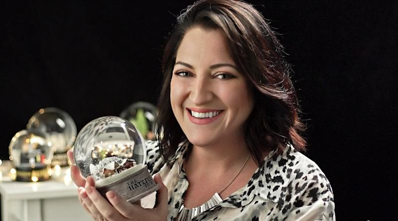Pictured: Snow globe maker Leah Andrews. Image: Queen of Snow Globes