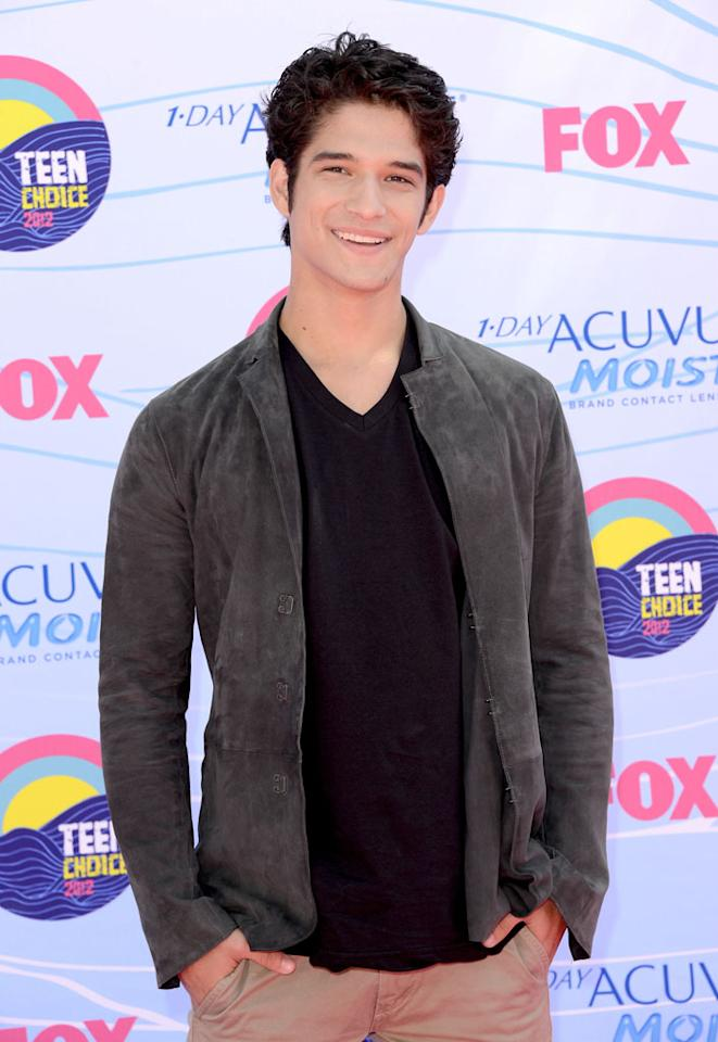Actor Tyler Posey arrives at the 2012 Teen Choice Awards at Gibson Amphitheatre on July 22, 2012 in Universal City, California.