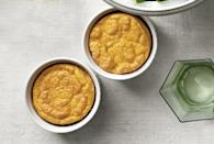 "<p>The delicate sweetness of carrot is complimented by freshly grated nutmeg in these pillowy soufflés.</p><p><strong><a href=""https://www.countryliving.com/food-drinks/recipes/a4243/light-fluffy-carrot-souffles-recipe-clv1112/"" rel=""nofollow noopener"" target=""_blank"" data-ylk=""slk:Get the recipe"" class=""link rapid-noclick-resp"">Get the recipe</a>.</strong></p>"
