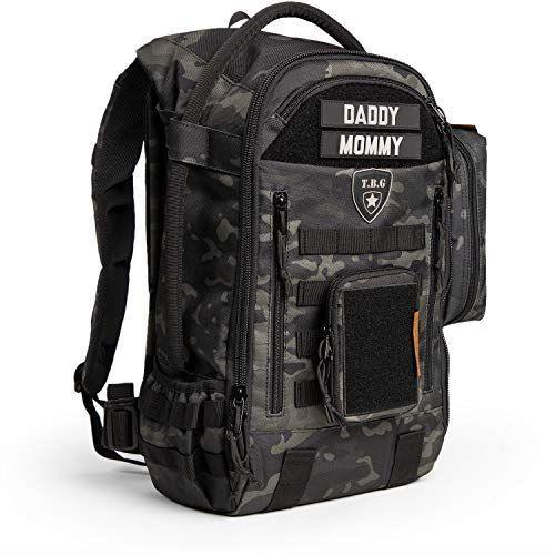 """<p><strong>Tactical Baby Gear</strong></p><p>amazon.com</p><p><strong>$169.99</strong></p><p><a href=""""https://www.amazon.com/dp/B073GKWP3B?tag=syn-yahoo-20&ascsubtag=%5Bartid%7C2089.g.36095713%5Bsrc%7Cyahoo-us"""" rel=""""nofollow noopener"""" target=""""_blank"""" data-ylk=""""slk:Shop Now"""" class=""""link rapid-noclick-resp"""">Shop Now</a></p><p>This may look gimmicky, but it's honestly a great bag. It has a built-in changing pad that can be easily wiped clean, tons of pockets, bottle holders, and multiple access points inside the bag. Dad can use it to go to the gym, and then swing around and pick up the little one at daycare, with room to spare.</p>"""