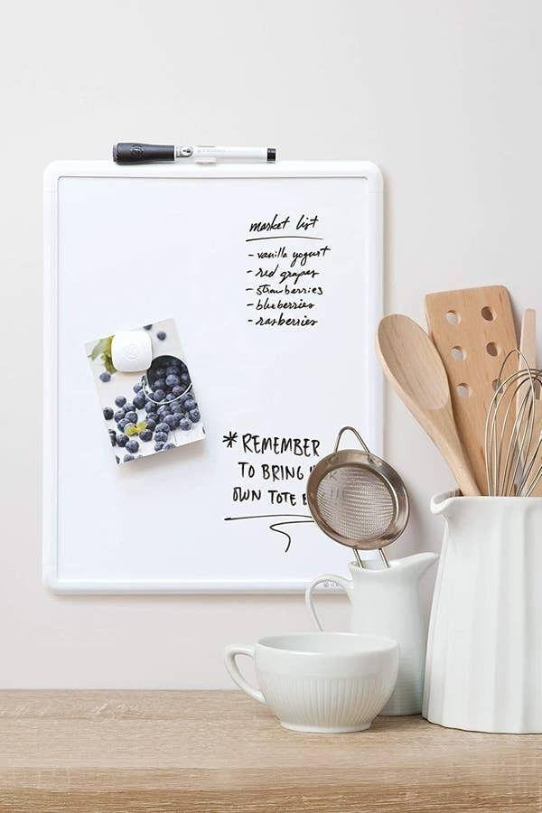 """Your kiddos can use this while doing schoolwork. You can also use this as a message board for family announcements or grocery lists.<br /><br /><strong>Promising review:</strong>""""My 4-year-old is learning to write, which is how my husband came up with the idea of purchasing a whiteboard for the ease of writing on it and basic learning. The whiteboard came with a dry-erase pen and four hook-and-loop stickers.<strong>It's lightweight, very handy and easy to carry. Oftentimes, my daughter keeps the board in her lap while writing or drawing.</strong>The dry-erase pen accompanying the board has a tiny duster/eraser on top. I'm glad we bought this product."""" —<a href=""""https://www.amazon.com/gp/customer-reviews/R32KEK9V8EMRTZ?&linkCode=ll2&tag=huffpost-bfsyndication-20&linkId=2f1b98ab30d810646208688493dc0622&language=en_US&ref_=as_li_ss_tl"""" target=""""_blank"""" rel=""""nofollow noopener noreferrer"""" data-skimlinks-tracking=""""5750537"""" data-vars-affiliate=""""Amazon"""" data-vars-href=""""https://www.amazon.com/gp/customer-reviews/R32KEK9V8EMRTZ?tag=bfmal-20&ascsubtag=5750537%2C2%2C33%2Cmobile_web%2C0%2C0%2C0"""" data-vars-keywords=""""cleaning,fast fashion"""" data-vars-link-id=""""0"""" data-vars-price="""""""" data-vars-retailers=""""Amazon"""">AAR.</a><br /><br /><strong>Get it from Amazon for<a href=""""https://www.amazon.com/Brands-Contempo-Magnetic-Erase-Inches/dp/B00PRYQQES?&linkCode=ll1&tag=huffpost-bfsyndication-20&linkId=6b42dbb9c430ac36fa9e2f404ae546ff&language=en_US&ref_=as_li_ss_tl"""" target=""""_blank"""" rel=""""nofollow noopener noreferrer"""" data-skimlinks-tracking=""""5750537"""" data-vars-affiliate=""""Amazon"""" data-vars-asin=""""B00PRYQQES"""" data-vars-href=""""https://www.amazon.com/dp/B00PRYQQES?tag=bfmal-20&ascsubtag=5750537%2C2%2C33%2Cmobile_web%2C0%2C0%2C16108030"""" data-vars-keywords=""""cleaning,fast fashion"""" data-vars-link-id=""""16108030"""" data-vars-price="""""""" data-vars-product-id=""""17892198"""" data-vars-product-img=""""https://m.media-amazon.com/images/I/21ipA27yrdL._SL500_.jpg"""" data-vars-product-title=""""U Brands Contempo Magnetic Dry Erase """