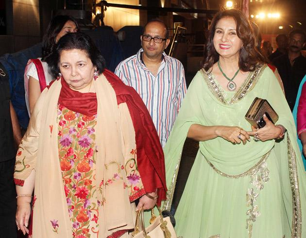 Pam Chopra arrives with Poonam Dhillon