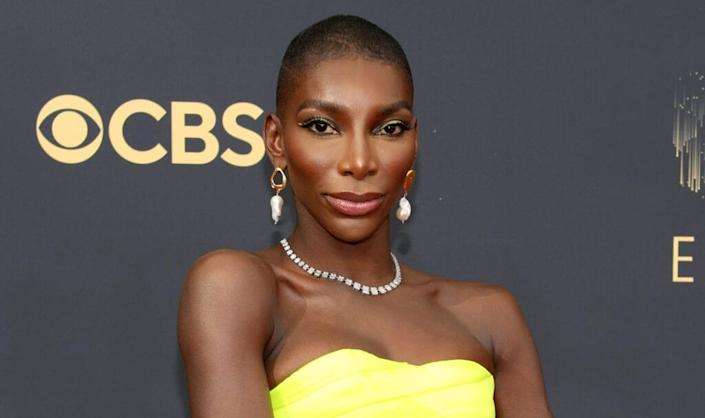 Michaela Coel attends the 73rd Primetime Emmy Awards at L.A. LIVE on September 19, 2021 in Los Angeles, California. (Photo by Rich Fury/Getty Images)