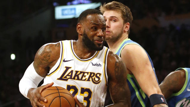 Luka Doncic and the Dallas Mavericks ended the Los Angeles Lakers' winning streak at 10.