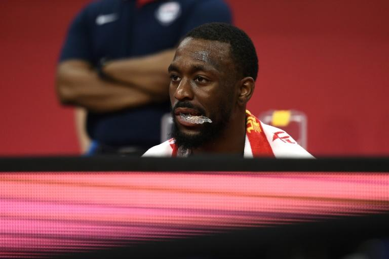 A dejected Kemba Walker looks on during Team USA's losing effort in the Basketball World Cup quarter-final against France