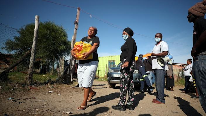 In South Africa, charities have been distributing food to those most in need