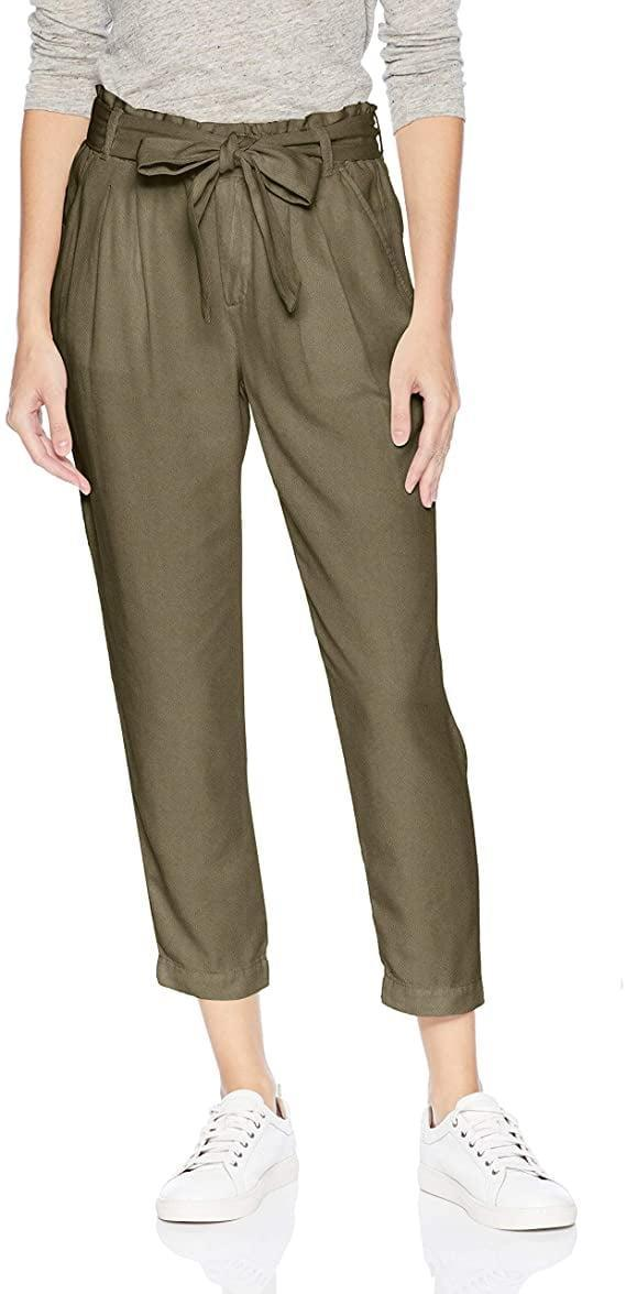 <p>These <span>Daily Ritual Lyocell Paper Bag-Waist Pants</span> ($12-$29) in olive green would look great with sneakers.</p>