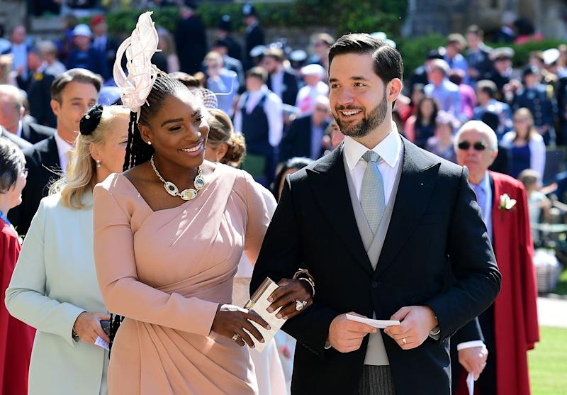 Serena Williams and husband Alexis Ohanian at the wedding of Prince Harry and the former Meghan Markle at Windsor Castle, May 19, 2018.