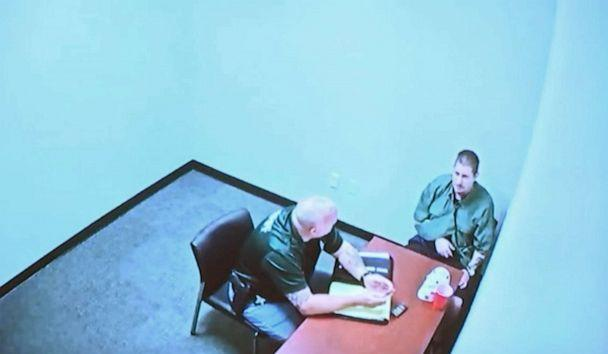 PHOTO: A screen grab from video of Michael Drejka being interrogated by police was played in court by Pinellas County prosecutors in Clearwater, Fla, Aug. 22, 2019. (WFTS-TV)