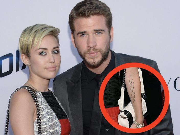 miley and liam tattoo