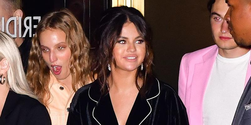 Selena Gomez Wore Sky-High Stilettos with Her Pajamas