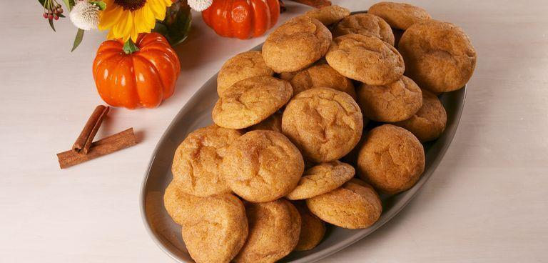 """<p>Soft, chewy, and full of cinnamon and pumpkin, these are just as dreamy as they sound.</p><p><em><a href=""""https://www.delish.com/cooking/recipe-ideas/a23941394/pumpkin-snickerdoodles-recipe/"""" rel=""""nofollow noopener"""" target=""""_blank"""" data-ylk=""""slk:Get the recipe from Delish »"""" class=""""link rapid-noclick-resp"""">Get the recipe from Delish »</a></em></p>"""