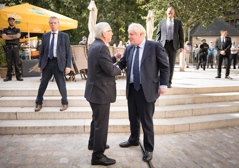 Boris Johnson met European Commission President Jean-Claude Juncke Luxembourg for a working lunch on Brexit yesterday (PA Images)