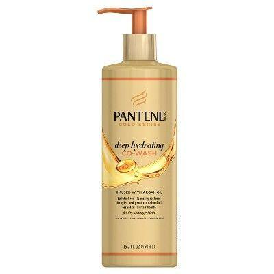 """<p><strong>Pantene</strong></p><p>target.com</p><p><strong>$9.99</strong></p><p><a href=""""https://www.target.com/p/pantene-gold-series-deep-hydrating-co-wash-15-2-fl-oz/-/A-51181013"""" rel=""""nofollow noopener"""" target=""""_blank"""" data-ylk=""""slk:Shop Now"""" class=""""link rapid-noclick-resp"""">Shop Now</a></p><p>This drugstore favorite was created by a group of black scientists especially for black women so you know it's a winning formula. It's great for days you don't want to shampoo, but still need a quick cleanse.</p>"""