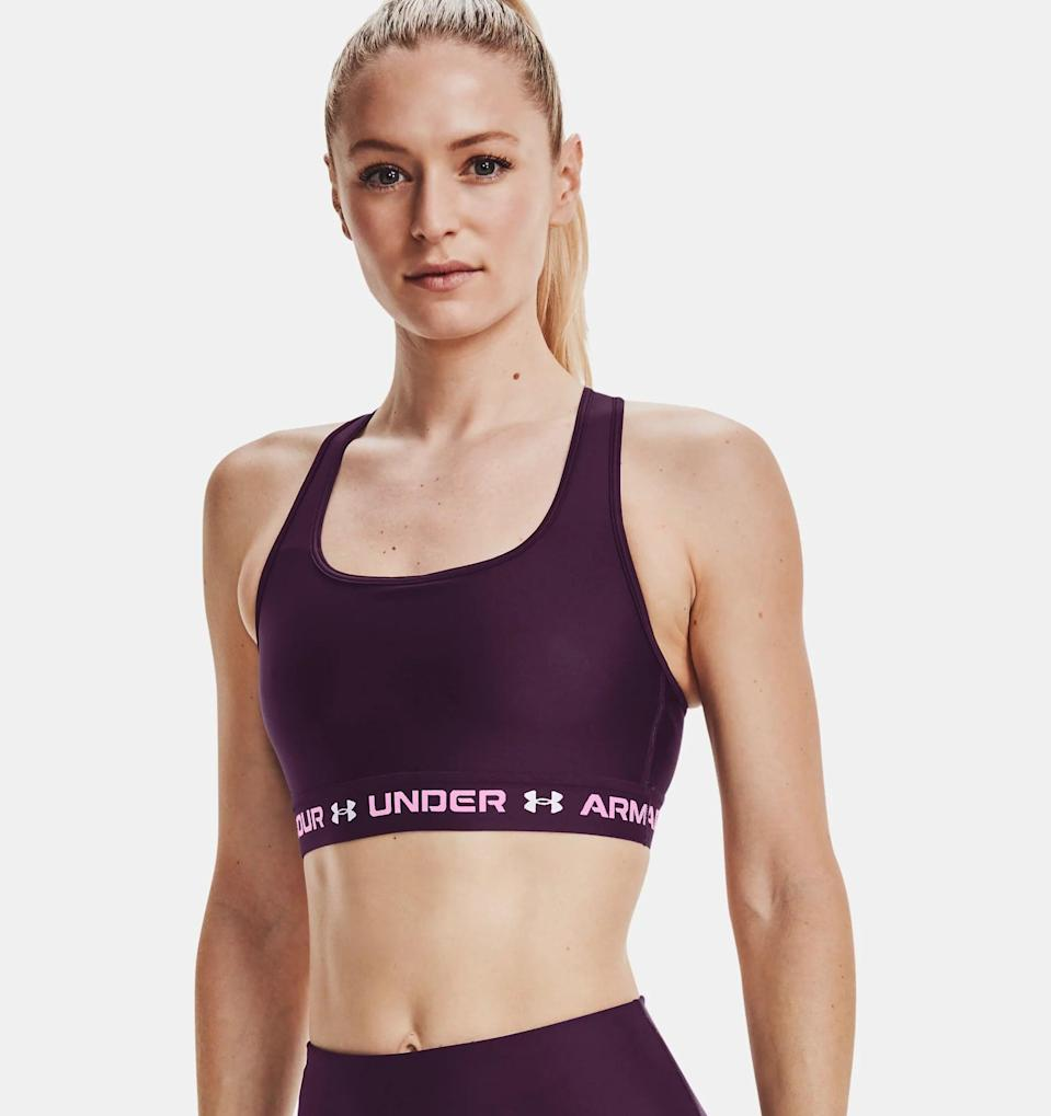 <p>This <span>Under Armour Mid Crossback 3-Color Sports Bra</span> ($35) is a classic, and one you'll reach for no matter the activity.</p>
