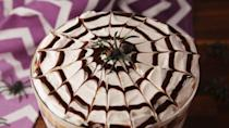 "<p>The perfect fall dessert.</p><p>Get the recipe from <a href=""https://www.delish.com/cooking/recipe-ideas/recipes/a55954/spider-trifle-recipe/"" rel=""nofollow noopener"" target=""_blank"" data-ylk=""slk:Delish"" class=""link rapid-noclick-resp"">Delish</a>.</p>"
