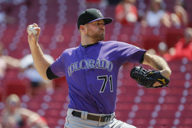 The Colorado Rockies committed a total of $106M to relievers Wade Davis (pictured), Bryan Shaw and Jake McGee, only to have the worst bullpen in MLB. (AP)