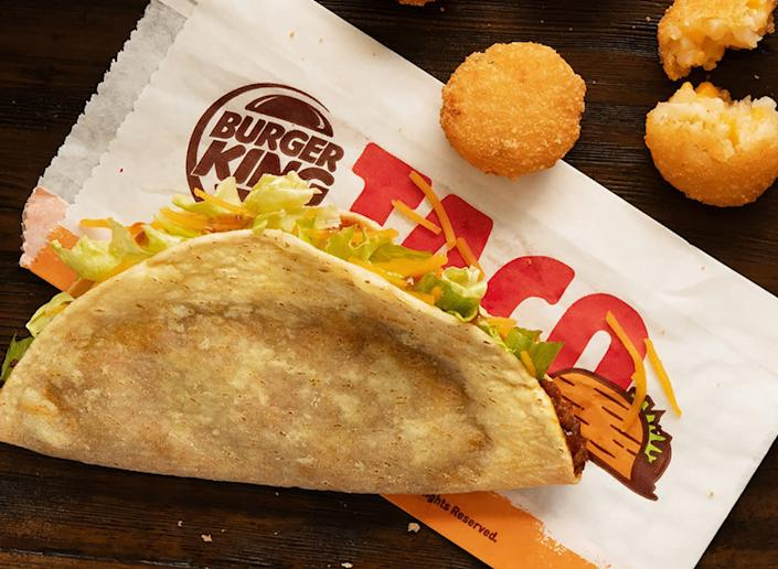 taco from burger king with cheesy tots