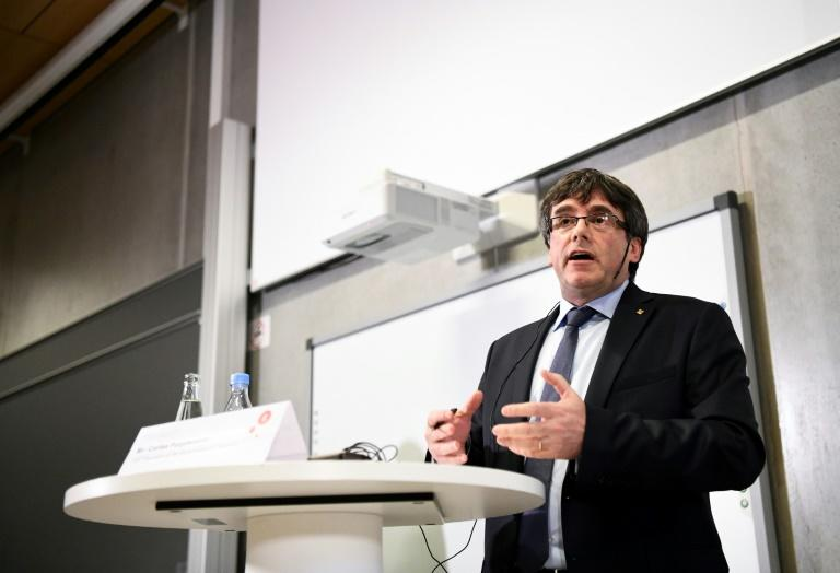Carles Puigdemont spoke at a debate at the University of Copenhagen called 'Catalonia and Europe at a crossroads for democracy?'