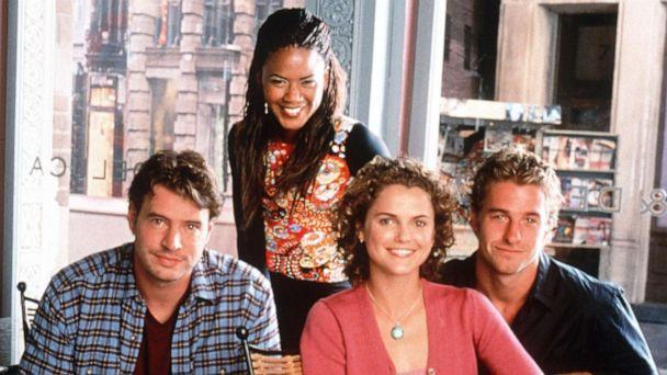 PHOTO: From left to right, Scott Foley, Tangi Miller (top), Kerri Russell And Scott Speedman in the Warner Bros. TV series 'Felicity.' (Getty Images)