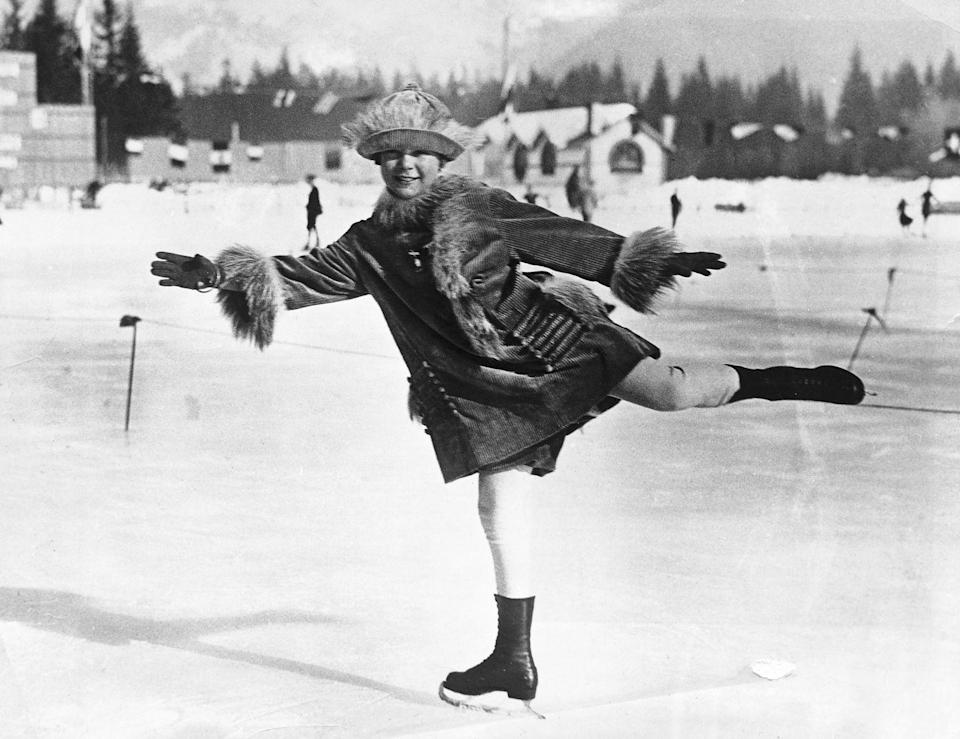 <p>Norwegian figure skater, Sonja Henie, was one of the most famous skaters that has ever lived. At the age of twelve, she skated as the youngest competitor in the Chamonix games. Although she did not medal in 1924, three years later Henie became the youngest woman to ever win a gold medal. She held that record, among countless others, for 70 years until Tara Lipinski won gold in 1998. </p>