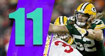 <p>The Packers play at the Rams and at the Patriots in back-to-back weeks. If they're going to live up to their promise this season they probably want to avoid getting swept, though it'll be hard to even split those two games. (Clay Matthews) </p>
