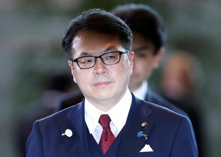 FILE PHOTO: Hiroshige Seko arrives at Prime Minister Shinzo Abe's official residence in Tokyo