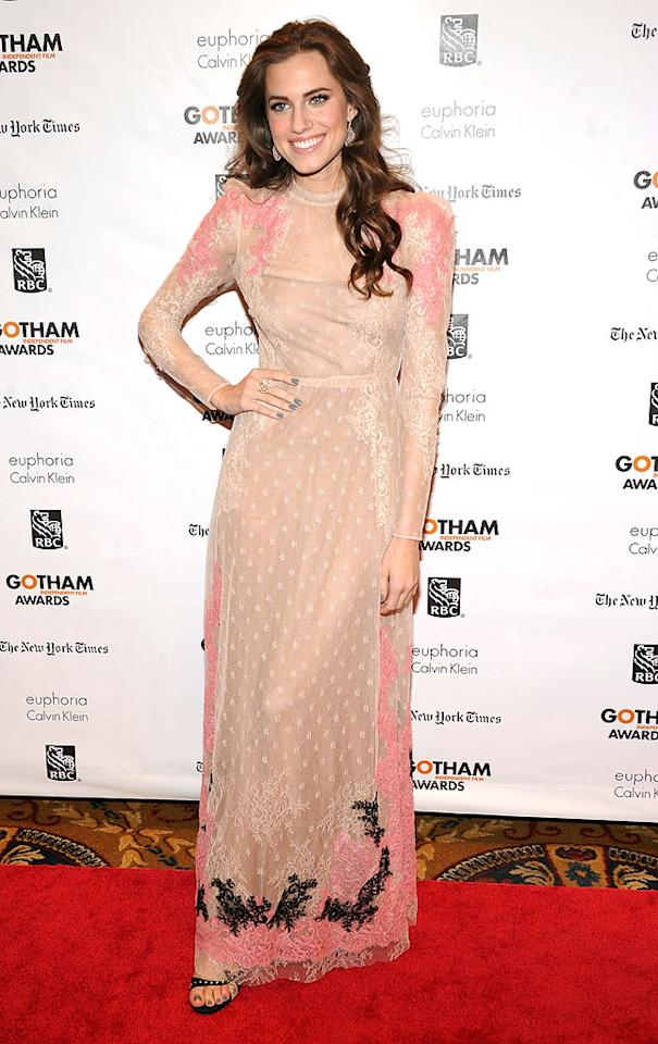 NEW YORK, NY - NOVEMBER 26:  Actress Allison Williams attends the 22nd Annual Gotham Independent Film Awards at Cipriani Wall Street on November 26, 2012 in New York City.  (Photo by Jamie McCarthy/WireImage)