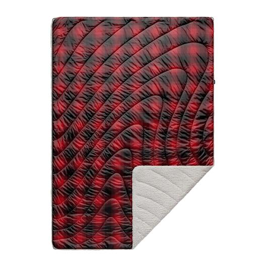 Sherpa Puffy Blanket - Ombre Plaid