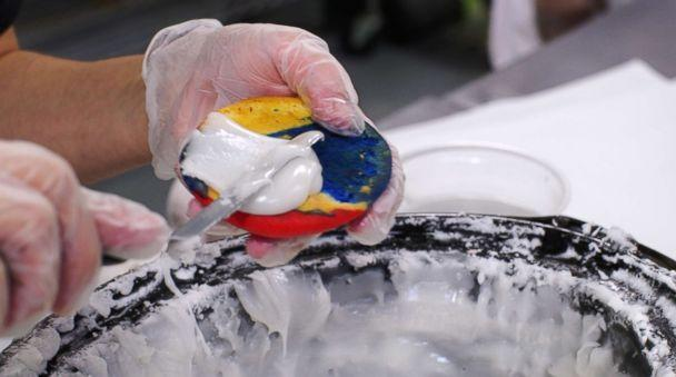 PHOTO: These red, white, and blue cookies are made and iced by hand. (ABC News)