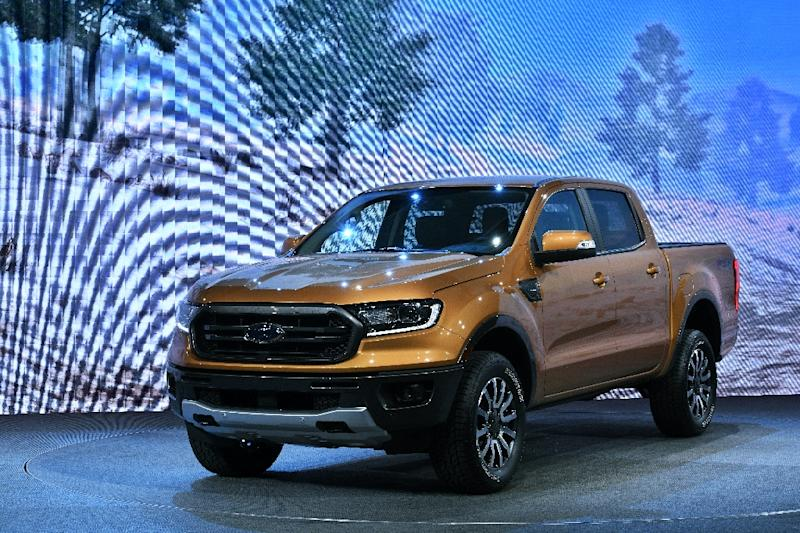 In a nod to the appeal of a rough-and-tumble look in the US, Ford tweaked its Ranger mid-sized pickup for North America compared with the version sold in other regions (AFP Photo/Jewel SAMAD)