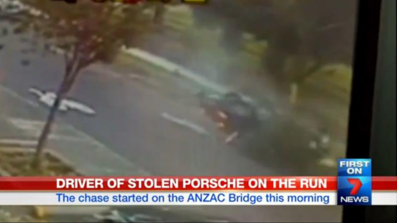 The vehicle spins around before landing on its roof in the middle of the street. Photo: 7News