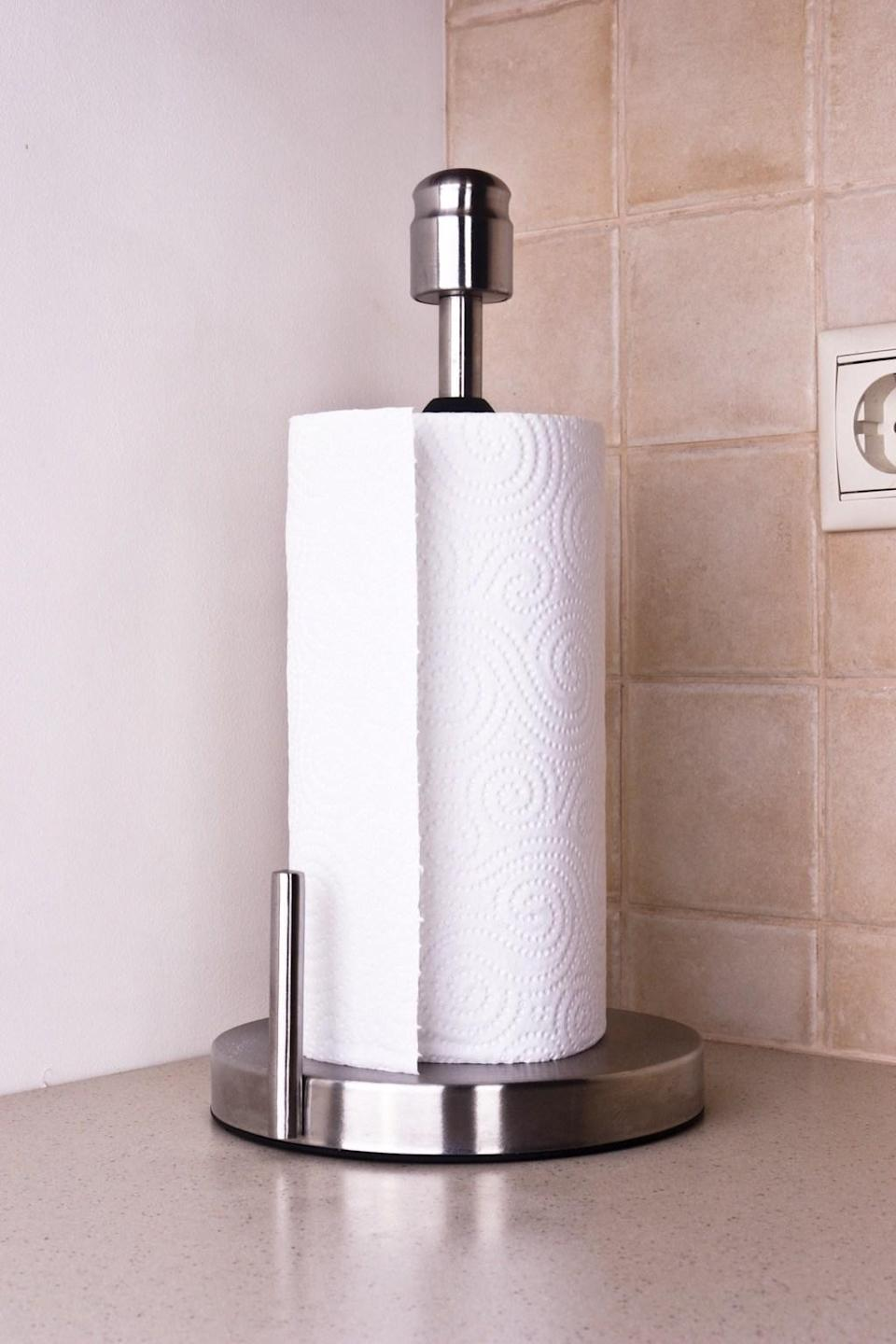 <span>While using paper towels here and there is necessary for most people, chances are you can cut down on at least three-quarters of your paper towel use by stocking a few shop towels for cleaning up spills, wiping down your kitchen counter, and other basic uses like that. Instead of grabbing up a handful of pricey paper towels every time something needs to be cleaned up use and reuse these actual towels and toss in the laundry. </span>