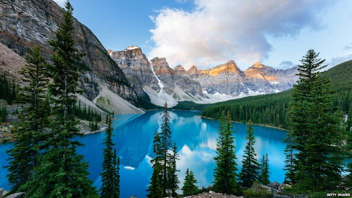 American tourists have been spotted in scenic spots like Banff National Park, despite the border closure