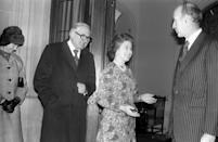 The Queen with then prime minister James Callaghan at Chequers and then French President Valery Giscard d'Estaing. The pair were said to have got on famously. [Photo: PA]