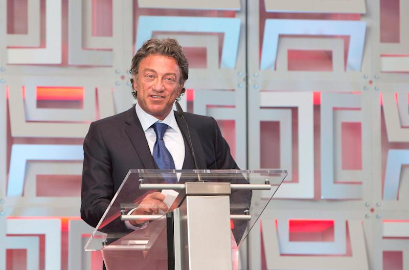 Daryl Katz speaks during the ribbon cutting ceremony at Rogers Place Arena in September 2016. (The Canadian Press)