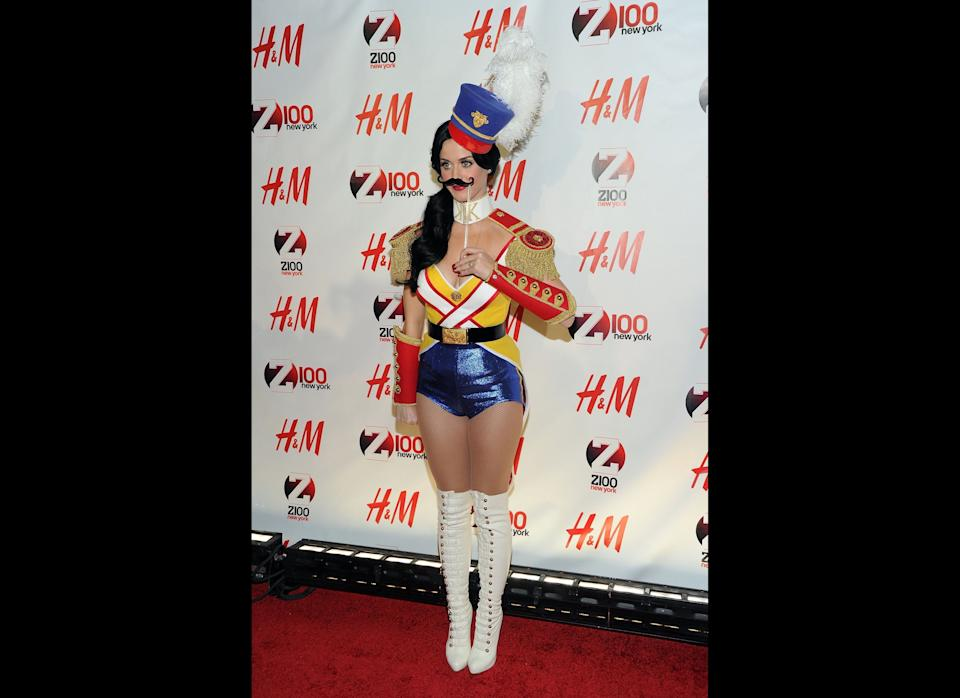 Katy Perry attends Z100's Jingle Ball 2010 at Madison Square Garden on December 10, 2010 in New York City.  (Photo by Jason Kempin/Getty Images)