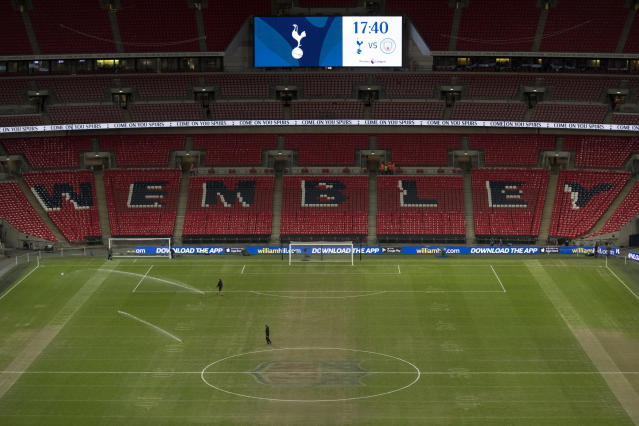 The NFL pitch markings could clearly be seen at Wembley