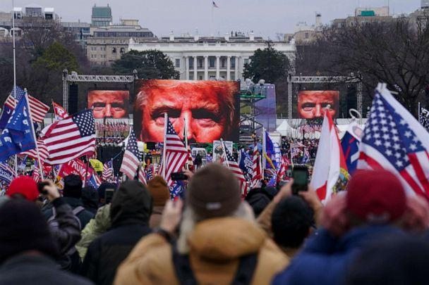PHOTO: Trump supporters participated in a rally, Jan. 6, 2021, in Washington, D.C. (John Minchillo/AP)