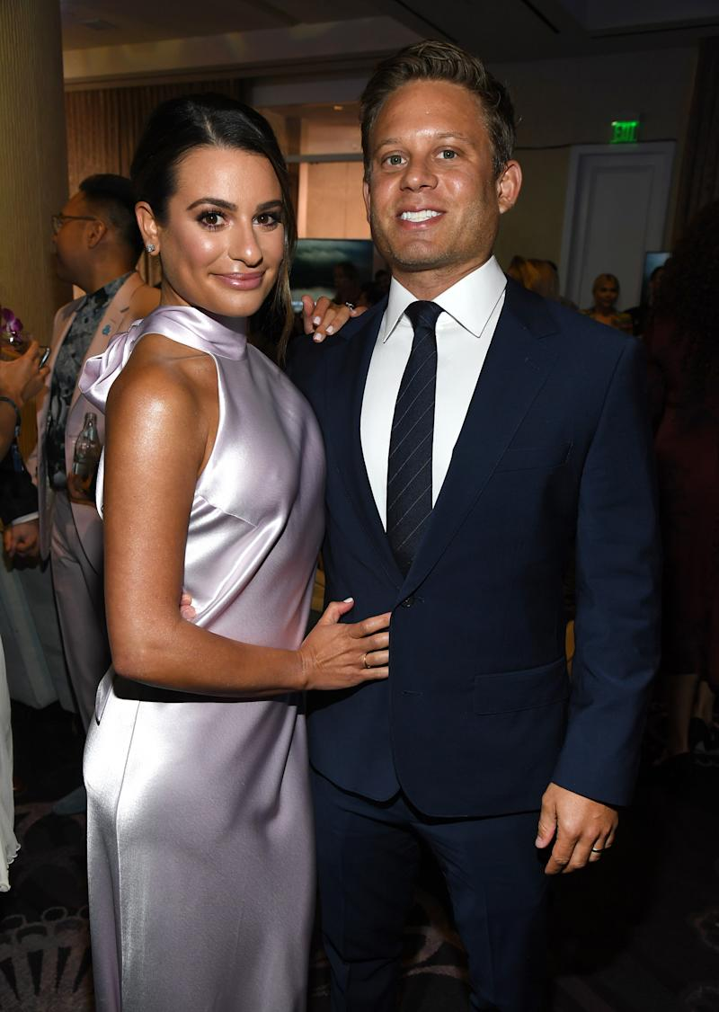 Lea Michele and Zandy Reich (Kevin Mazur / Getty Images for GLAAD)