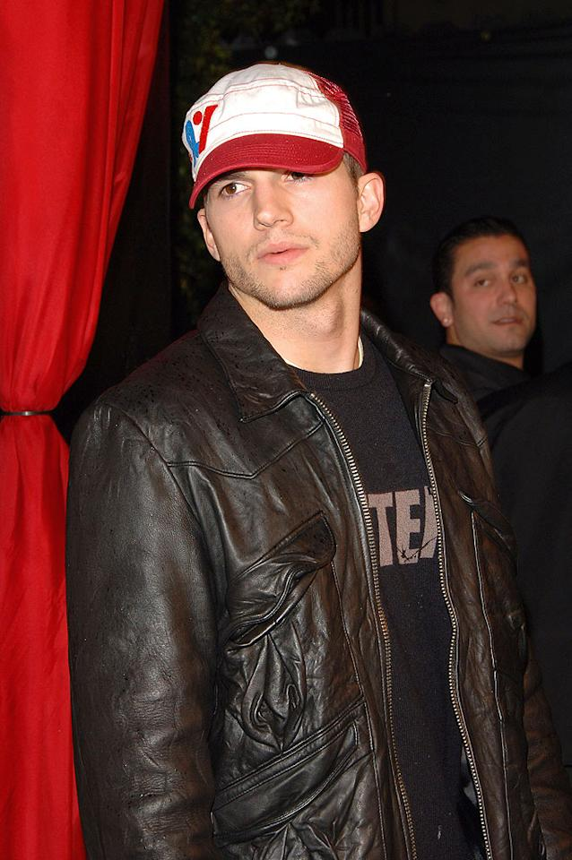 """Punk'd"" producer Ashton Kutcher supports fellow reality mogul and ""That '70s Show"" alum Wilmer Valderrama at the premiere party for MTV's ""Yo Momma."" Lester Cohen/<a href=""http://www.wireimage.com"" target=""new"">WireImage.com</a> - March 20, 2006"