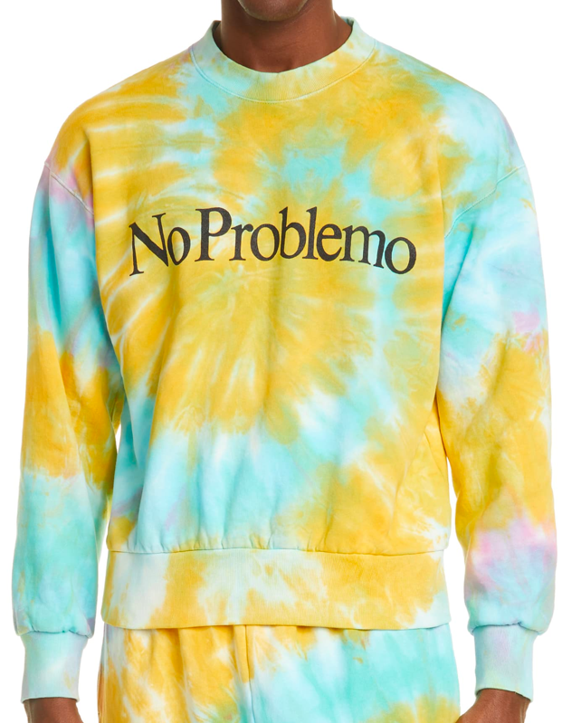 "$245, Farfetch. <a href=""https://www.farfetch.com/shopping/women/aries-tie-dye-slogan-sweatshirt-item-15040566.aspx"" rel=""nofollow noopener"" target=""_blank"" data-ylk=""slk:Get it now!"" class=""link rapid-noclick-resp"">Get it now!</a>"