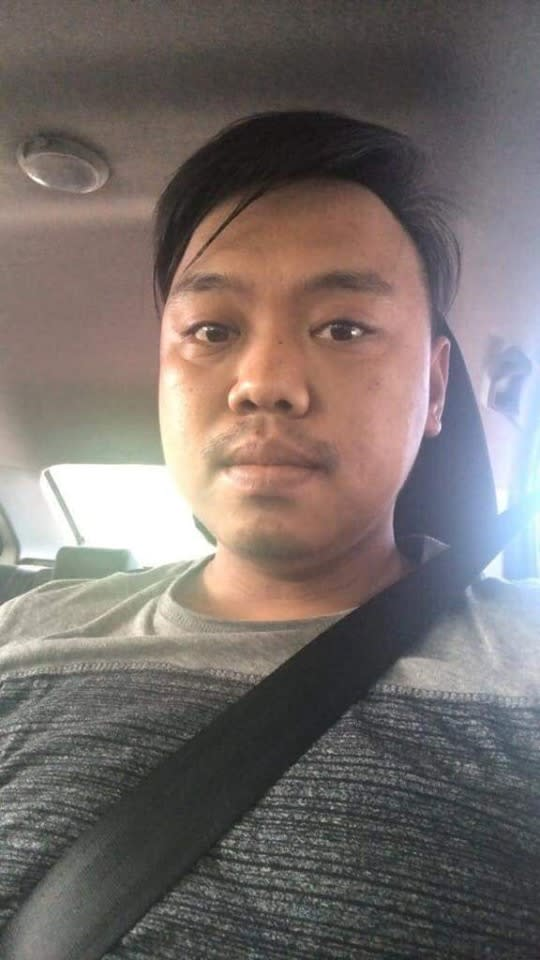 Grab driver Mohd Hanafiee Jaffar (pic) has been missing since Saturday. His car was found locked and empty, with blood stains on the steering wheel, handbrake, front door and mirror. — Picture via Facebook/Yinyin Ayin