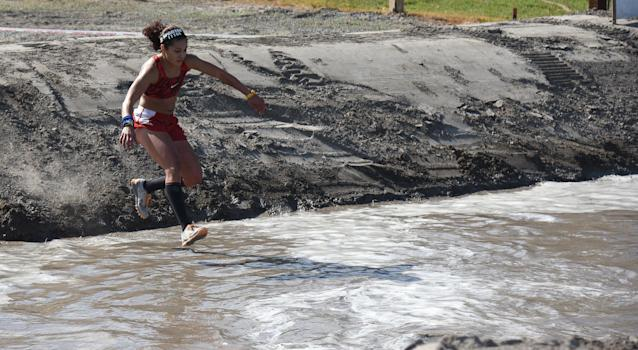 "An athlete competing during the Spartan Race U.S. Championship Series: ""Golden State Classic"" obstacle course race (OCR) at Toro Park in 2017 in Salinas, California. (C Flanigan/Getty Images for Spartan)"