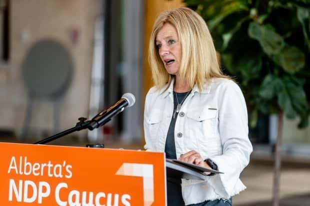 NDP Leader Rachel Notley is calling on the province to get vaccine clinics into Alberta schools this fall.  (Alberta NDP  - image credit)