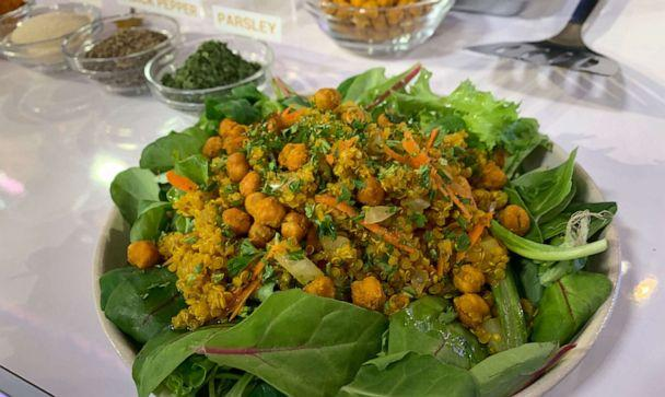 PHOTO: Immune Support Yellow Quinoa with Parsley and Almonds (ABC)