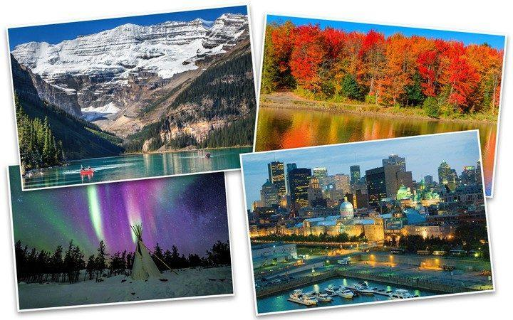Montage of Canada's travel highlights - Getty