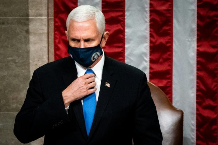 """One rioter left a note for Pence at the dais in the Senate Chamber which read: """"it's only a matter of time, justice is coming."""""""