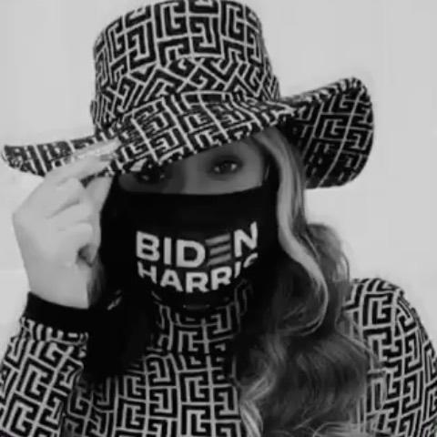 """<p>The Houston-born star encouraged her fellow Texans to support Democrat candidates Biden and Harris after placing her vote in a Balmain hat and top.</p><p><a href=""""https://www.instagram.com/p/CHGPTnmnb2C/"""" rel=""""nofollow noopener"""" target=""""_blank"""" data-ylk=""""slk:See the original post on Instagram"""" class=""""link rapid-noclick-resp"""">See the original post on Instagram</a></p>"""