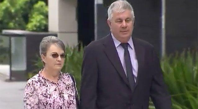 Leanne and Gary Pullen outside court on Friday. Source: 7 News